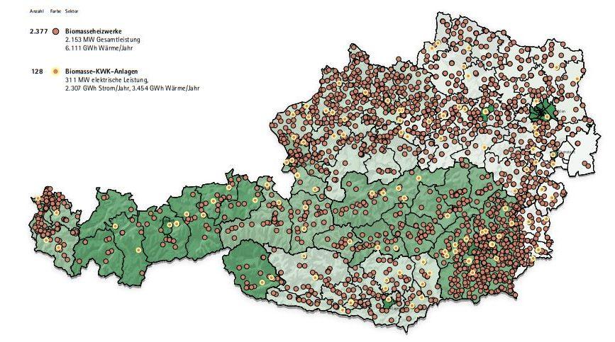Biomasse Wäremerzeugung Österreich