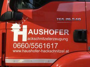 Biber 84 LKW Türbeschriftung - Haushofer Hackschnitzelerzeugung
