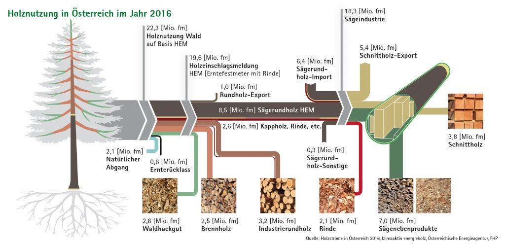 Nutzung von Holz in Österreich